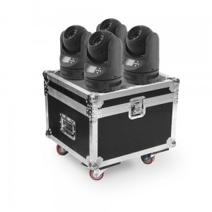 4x BEAM 60W LED Moving Head RGBW 4in1 Osram + CASE