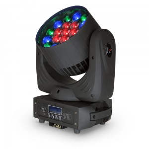 4x LED MOVING HEAD 19x15W RGBW ZOOM + CASE