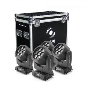 4x LED BIG-EYE KALEIDOSCOPE Moving Head 7x15W Osram (ZESTAW)
