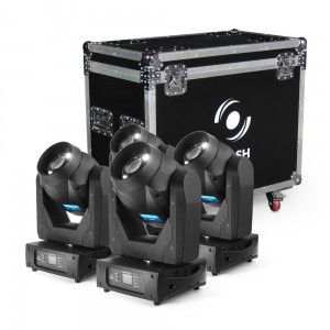 4x LED MOVING HEAD 150W 2-31° ROTO PRISM (ZESTAW)