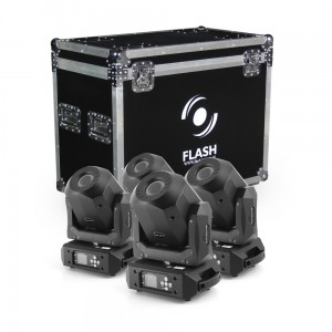4x LED Moving Head 90W DIAMOND - ROTO PRISM 2x GOBO (ZESTAW)