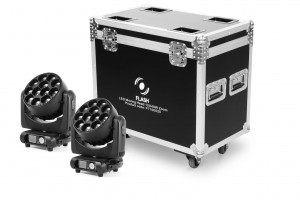 2x LED Moving Head 12x40W Zoom+Case