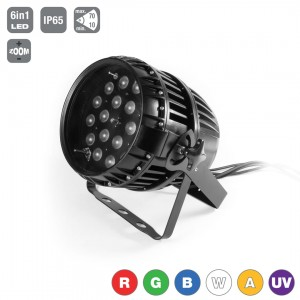 LED PAR 64 18x15W 6in1 RGBWA+UV Zoom IP65