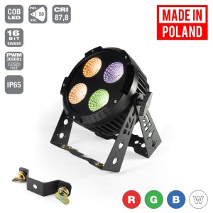 LED PAR 64 4x30W RGBW Alu Cast -IP65- Mk2 [TRUE1 Cable Plug] / [TRUE1 Chassis Connectors] / [schuko IP44]