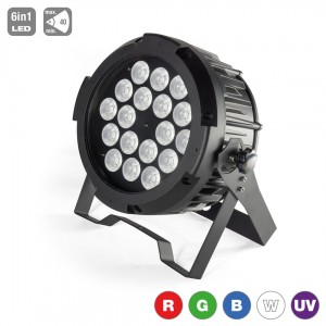 LED PAR 18x15W RGBWA+UV IP65