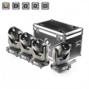 4x Moving Head LED 150W Spot + Case
